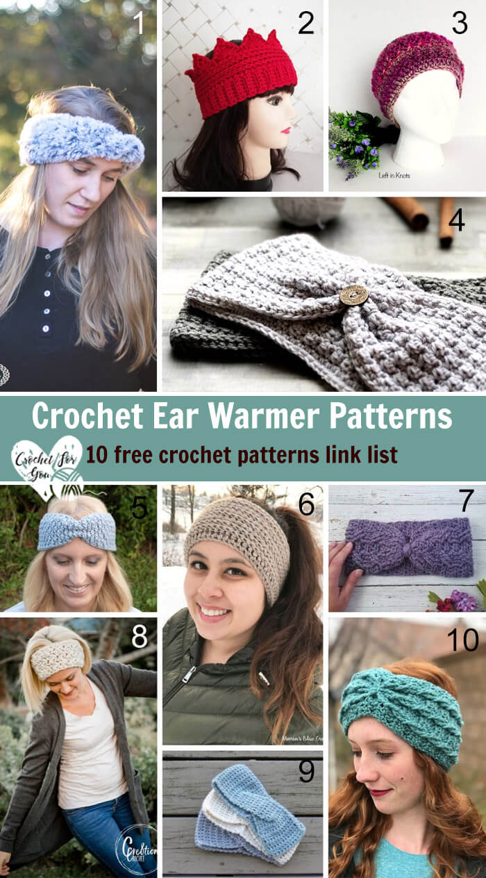 Crochet Ear Warmer Patterns - 10 free crochet pattern link list
