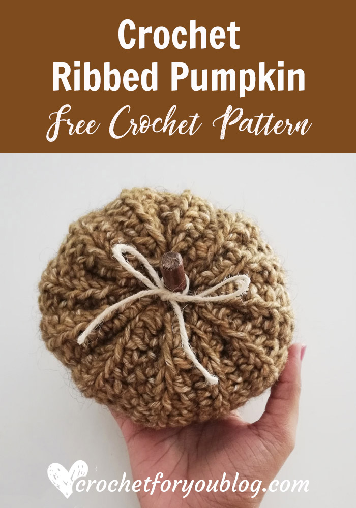 Crochet Ribbed Pumpkin Free Pattern